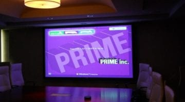 prime inc on a big screen